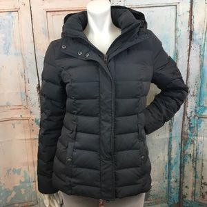 ABERCROMBIE & FITCH Gray Down Puffer Coat